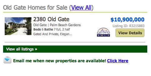 Old Gate Palm Beach Gardens Homes