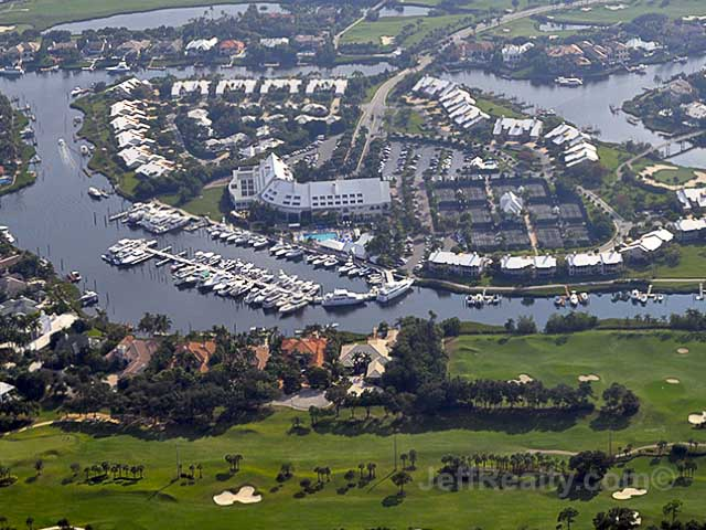 Admirals Cove - Aerial View of the Clubhouse & Yacht Club