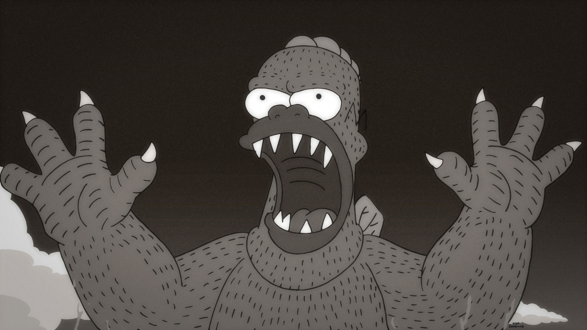 "This week's Simpson's episode includes a tribute to the classic ""Godzilla"" movies with Homer substituting as the classic city-wrecker."