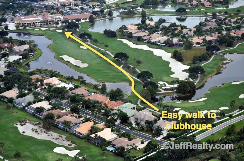 Easy walk from Carson's house to clubhouse Ibis West Palm Beach real estate