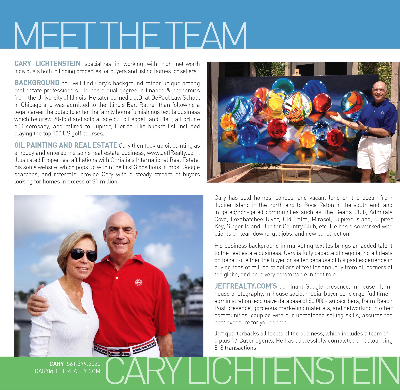 Palm Beach Post Ad_Agent Profile_Cary Lichtenstein