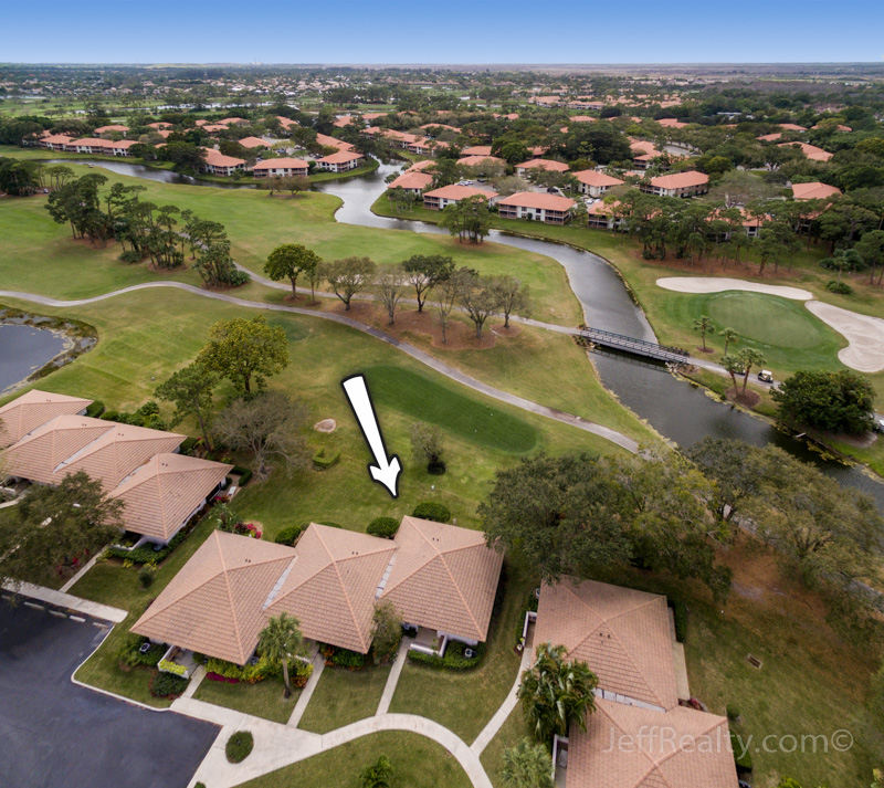 821 Club Drive - Aerial View - Club Cottages - PGA National