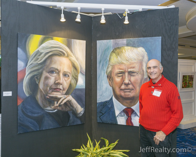 Cary Lichtenstein with Hillary Clinton & Donald Trump