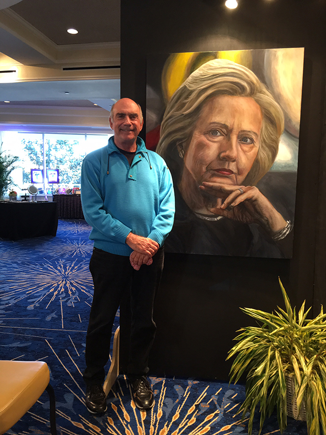 Cary Lichtenstein with Hillary Clinton