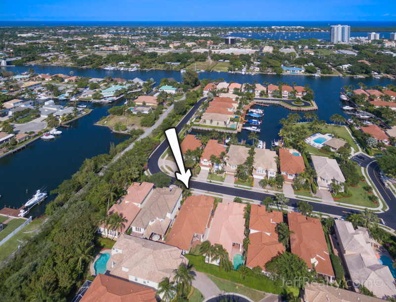 729 Sandy Point Lane - Aerial View - Prosperity Harbor - North Palm Beach