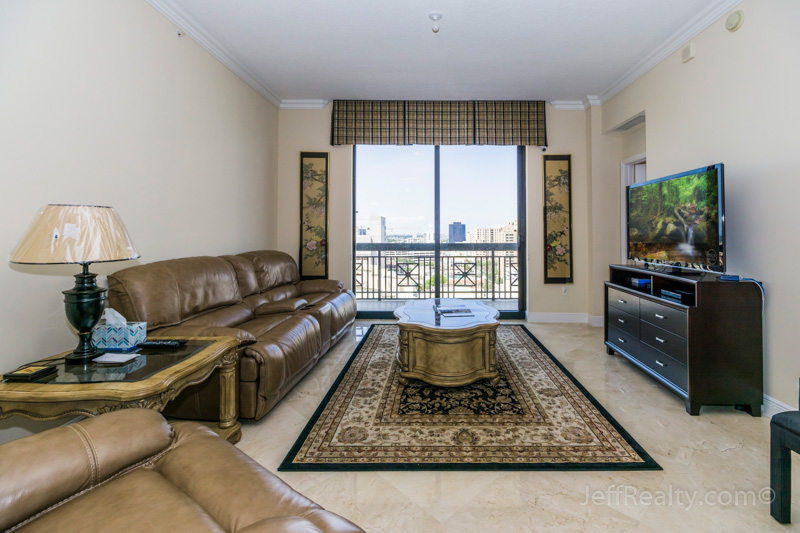 701 S Olive Avenue #1122 | Living Room | Two City Plaza | West Palm Beach