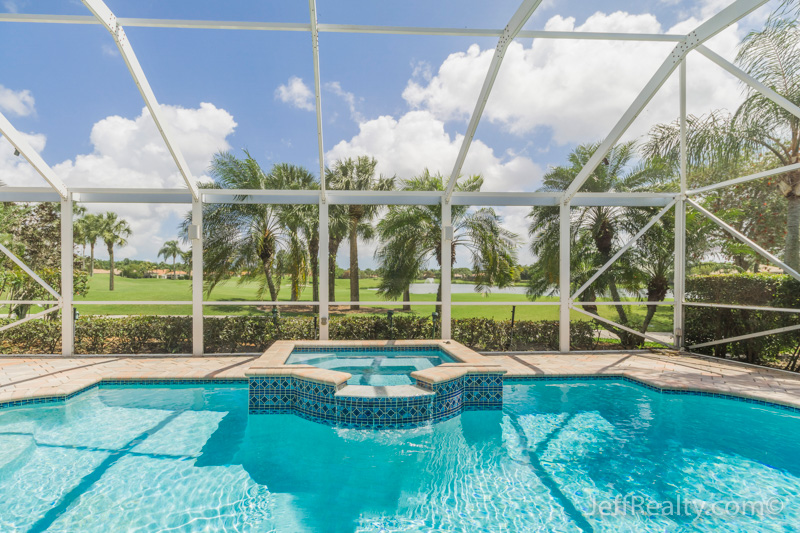 8678 Falcon Green Drive - Swimming Pool View - Falcon Green at Ibis Golf & Country Club - West Palm Beach
