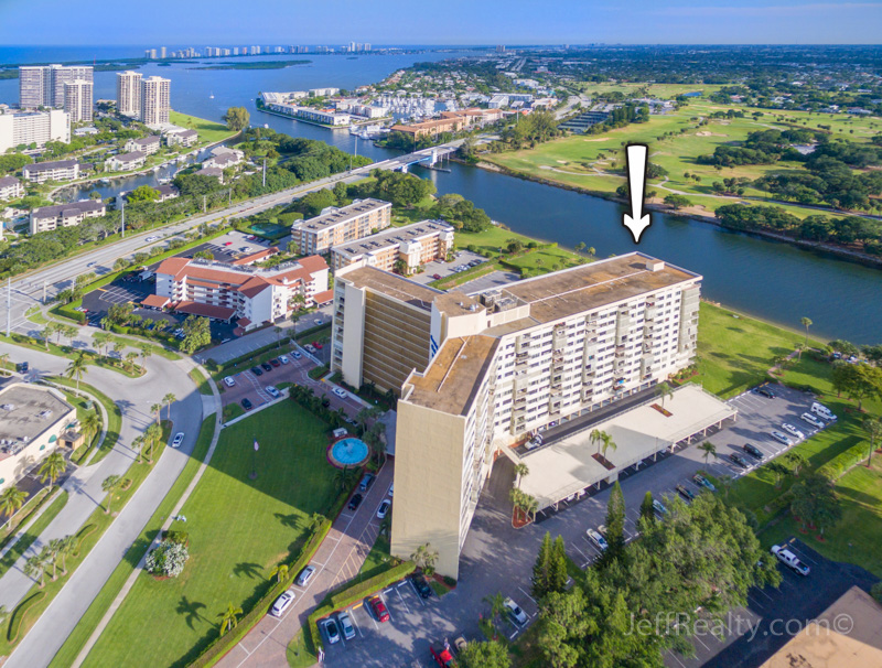 336 Golfview Road PH-1 | Aerial View | Gemini Club | North Palm Beach