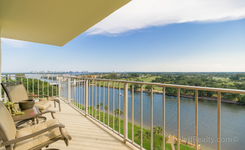 336 Golfview Road PH-1 | Balcony Patio View | Gemini Club | North Palm Beach