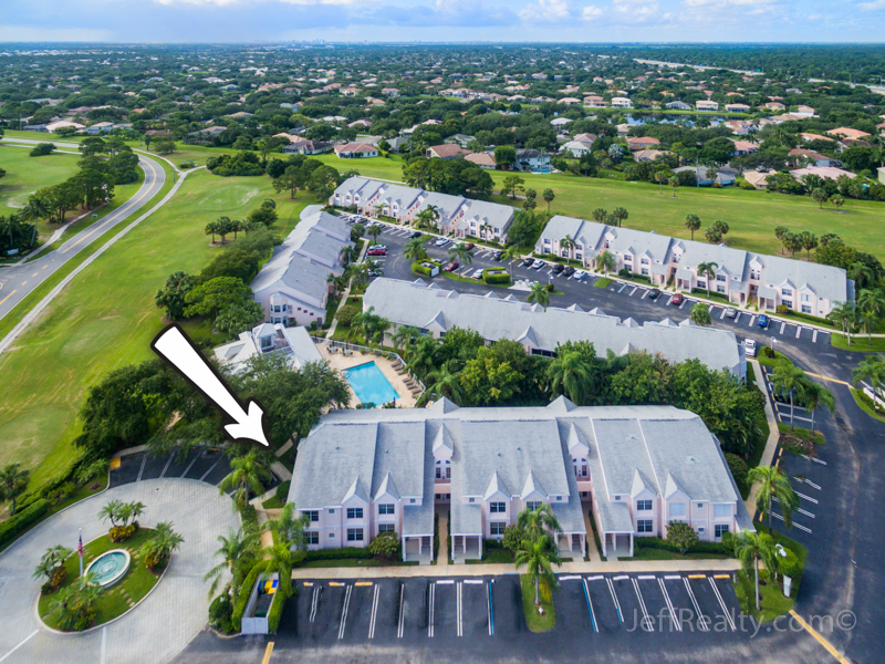 202 Muirfield Court #202A | Aerial View | Muirfield at Indian Creek | Jupiter