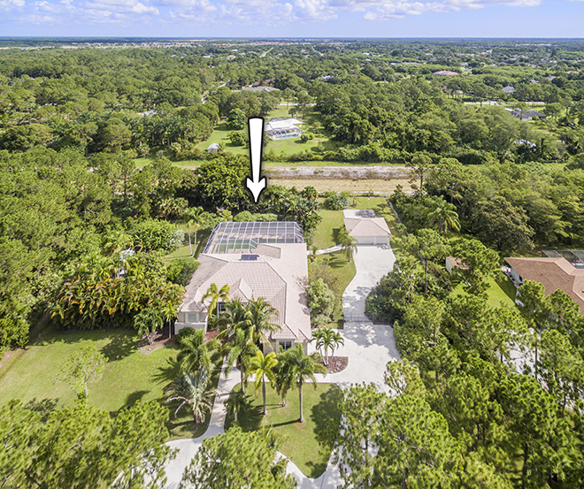 7821 159th Court N | Aerial View | Palm Beach Country Estates | West Palm Beach