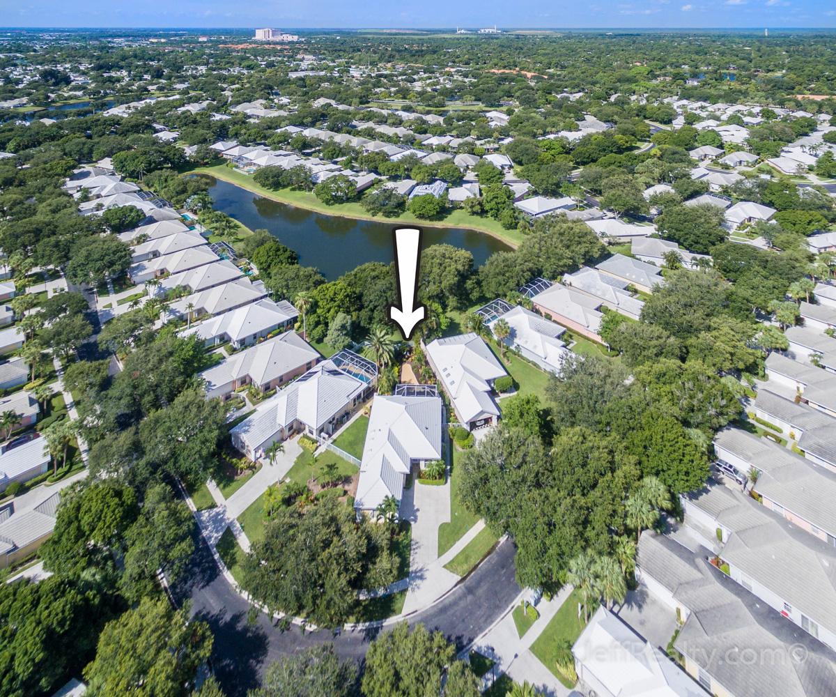 8625 Doverbrook Drive | Aerial View | Garden Oaks | Palm Beach Gardens