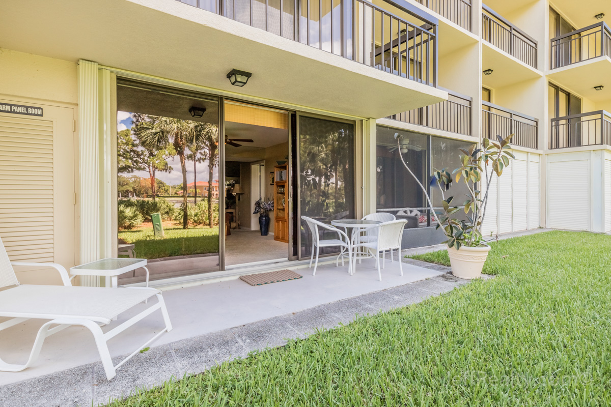 2101 Marina Isle Way #103 | Back Porch | The Marina at The Bluffs | Jupiter