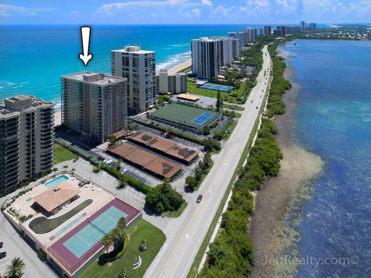 5440 N Ocean Drive #1401 | Aerial View | Aquarius | Singer Island