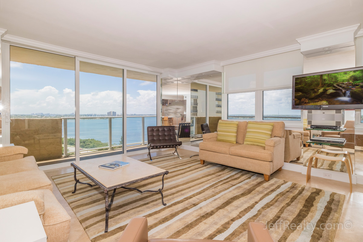 5440 N Ocean Drive #1401 | Living Room & View | Aquarius | Singer Island