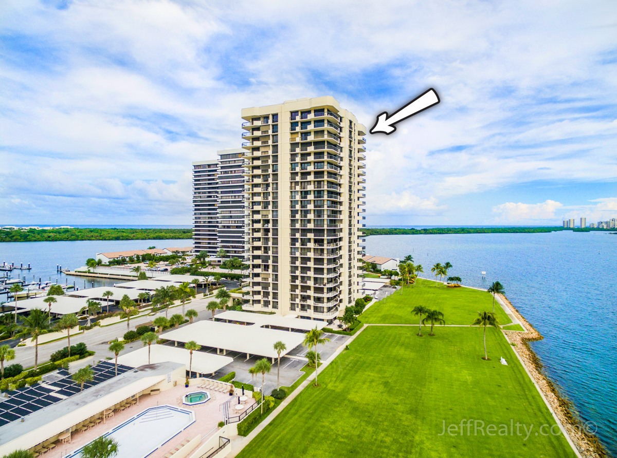 115 Lakeshore Drive PH-47 | Aerial View | Old Port Cove | North Palm Beach