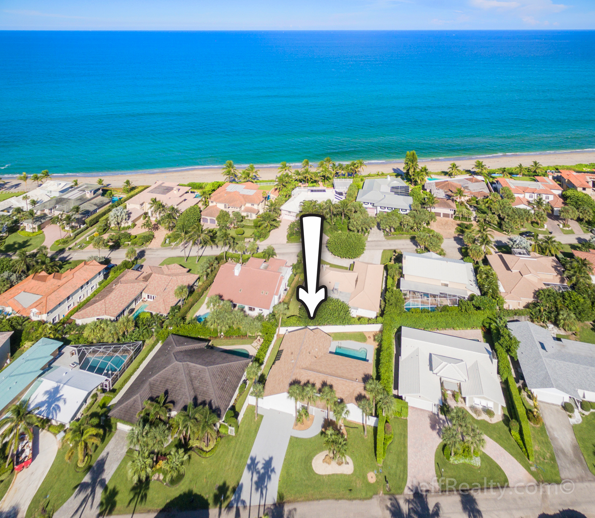 59 Colony Road | Aerial View | Jupiter Inlet Colony
