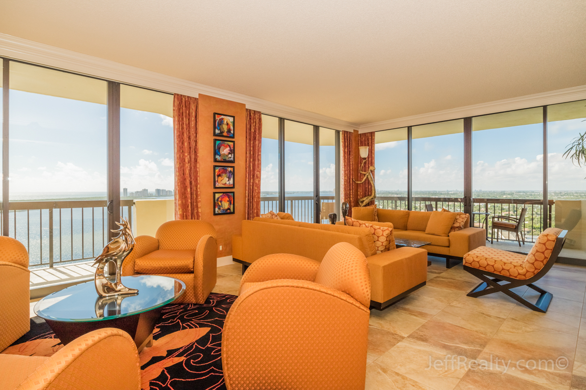 115 Lakeshore Drive PH-47 | Living Room | Old Port Cove | North Palm Beach
