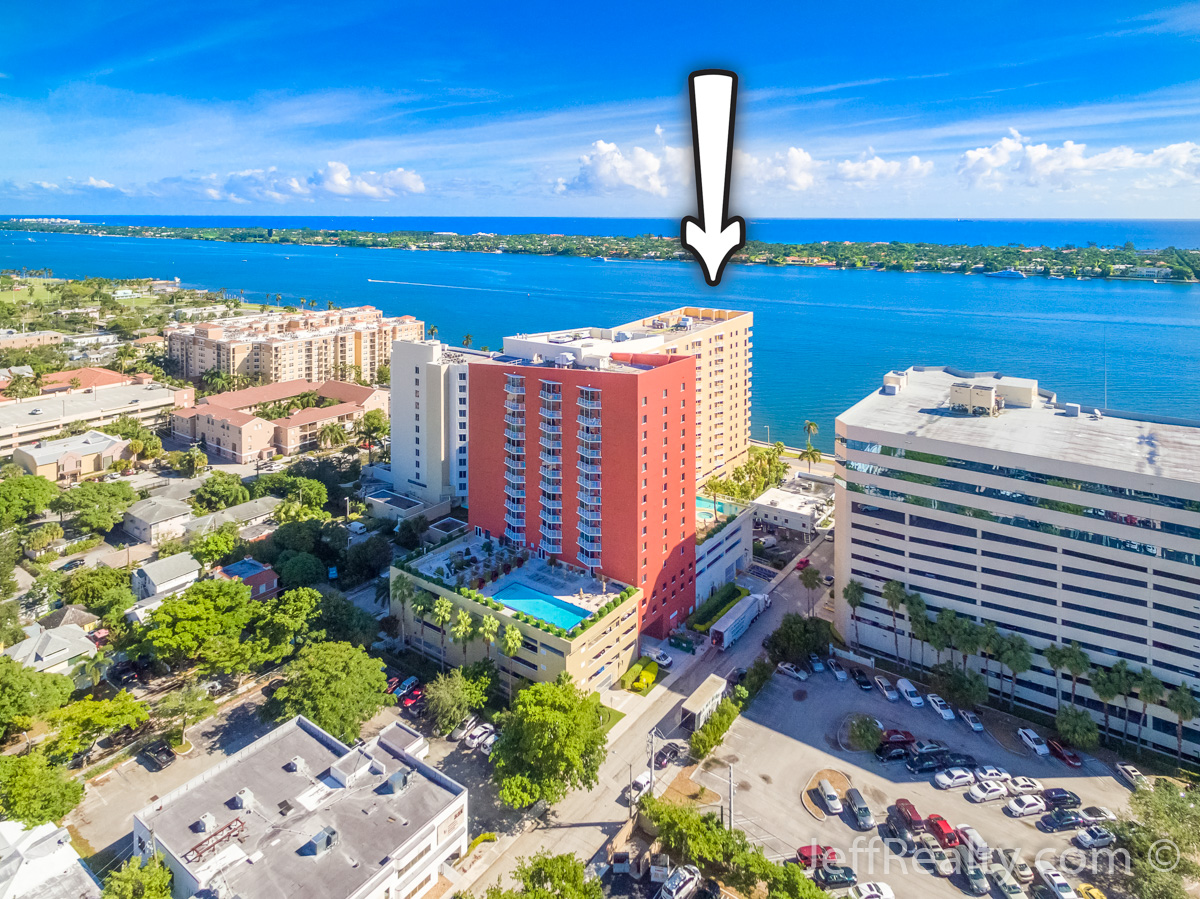 1551 N Flagler Drive #918 | Aerial View | The Slade | West Palm Beach