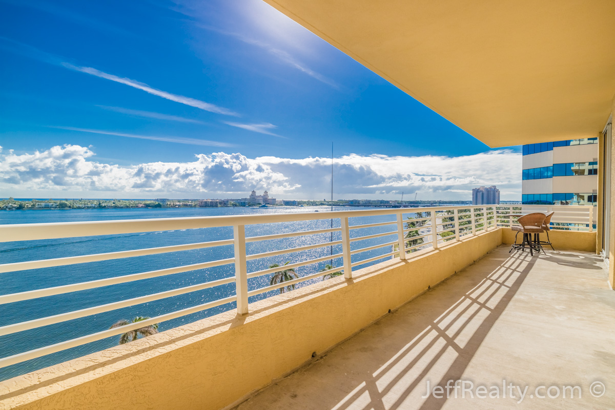 1551 N Flagler Drive #918 | Balcony & View | The Slade | West Palm Beach