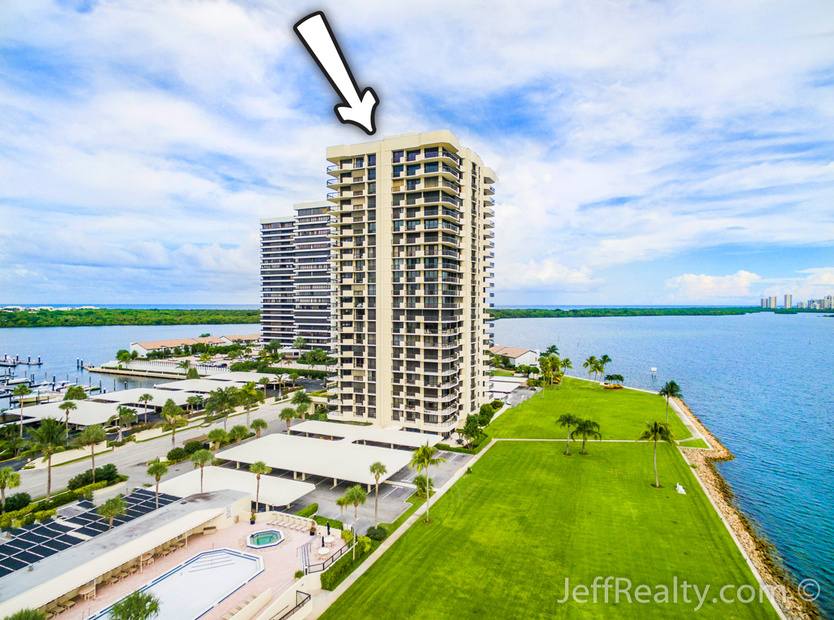 115 Lakeshore Drive PH-46 | Aerial View | Old Port Cove | North Palm Beach