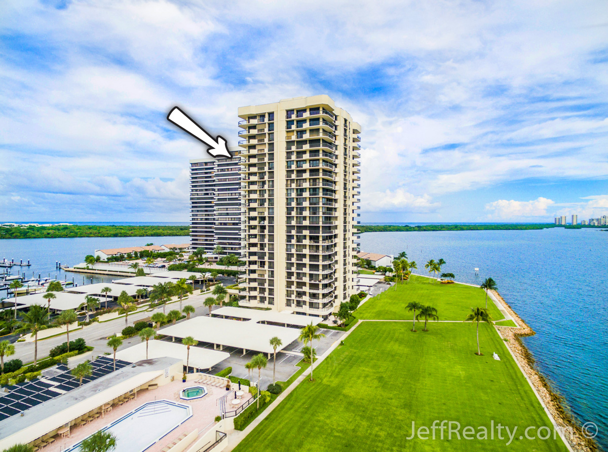 115 Lakeshore Drive #1849 | Aerial View | Old Port Cove | North Palm Beach