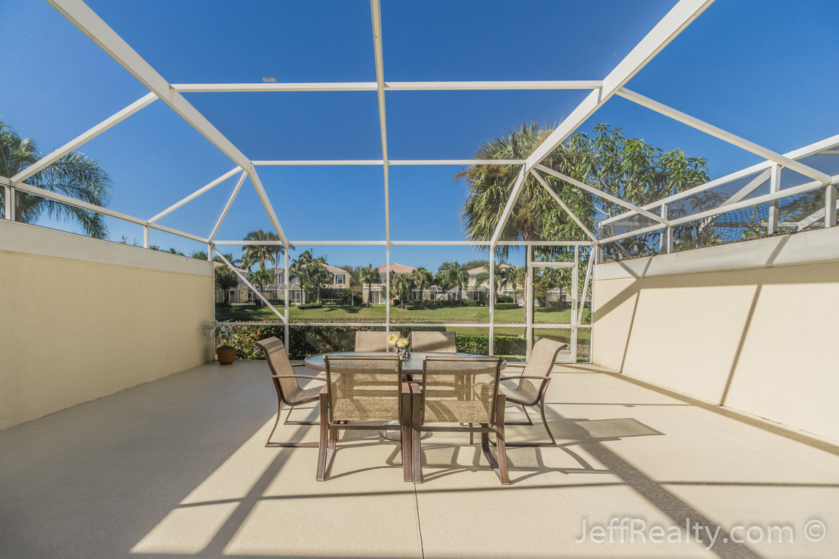 241 Fortuna Drive | Screened Patio & View | Catalina Lakes | Palm Beach Gardens
