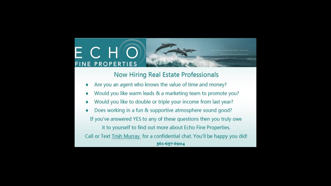 Now Hiring Real Estate Professionals